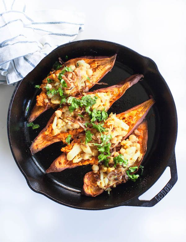 Indonesian Satay Stuffed Sweet Potatoes 5 Ingredient Vegan
