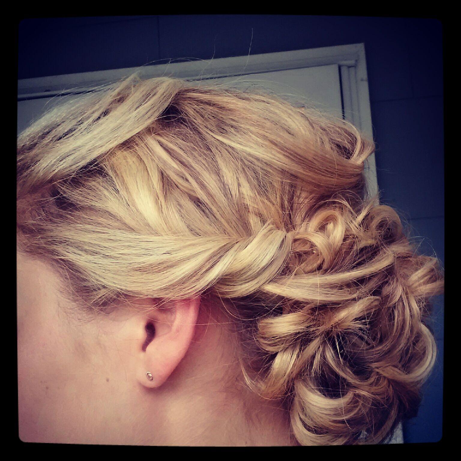 Twisty Low Bun for bridesmaid look Bridal party hair
