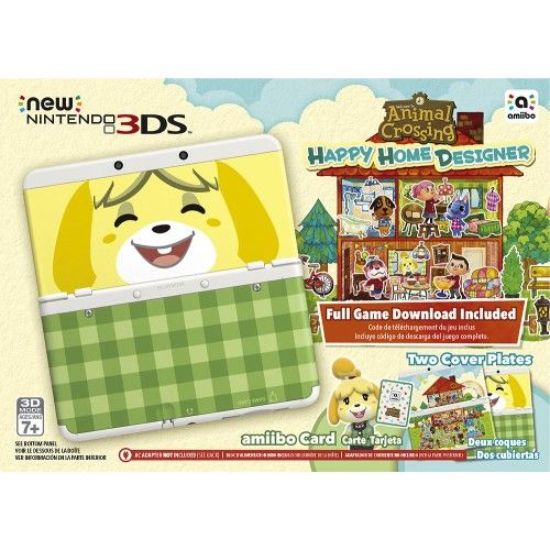 Nintendo new ds console animal crossing happy home designer bundle white front zoom also rh in pinterest