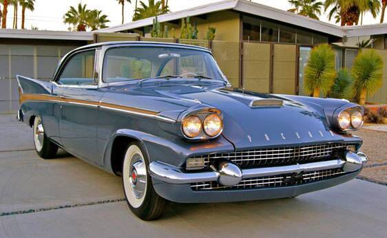 1958 Studebaker-Packard Starlight...only 500 were made, Packard front with Studebaker tail fins. This was the end for Packard....