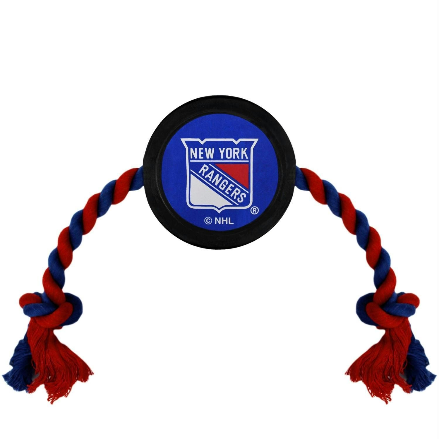 New York Rangers Dog Hockey Puck Rope Toy Pets First