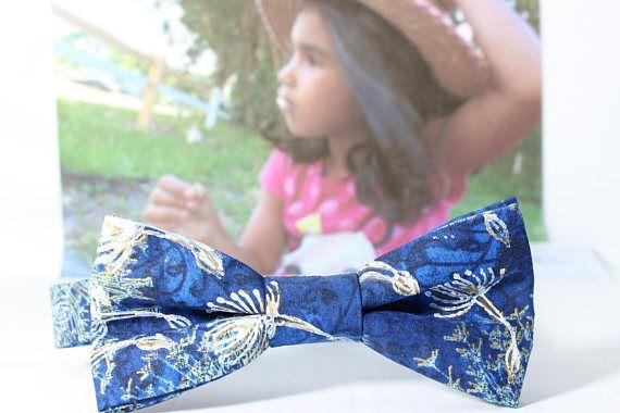 Hand Decorated Bowtie Summer Dandelion Theme /  Unisex Bowtie