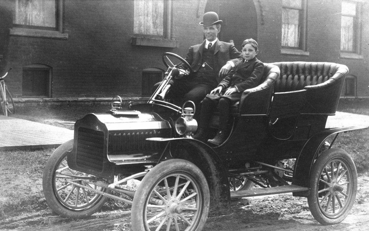 Model T Ford Forum Old Photo 1905 Henry And Edsel Ford