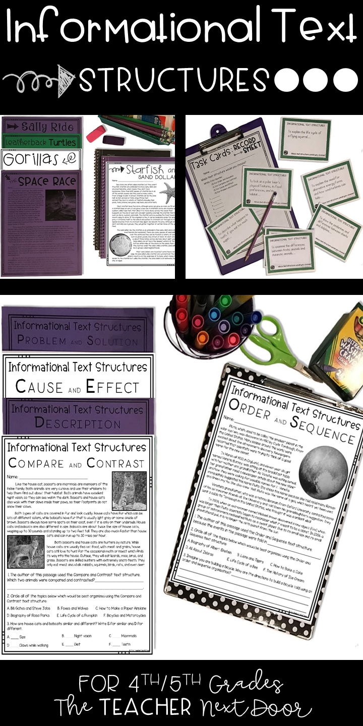Informational Text Structures 4th And 5th Grades Informational