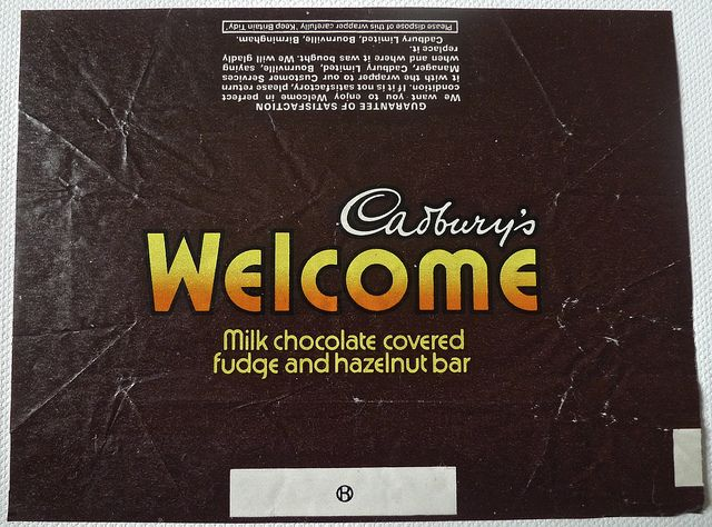 Cadburys Welcome Bar Retro Sweets Old Sweets Vintage Sweets