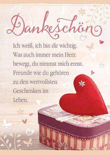 Postkarte   Dankeschön   Ich weiß | quotes I love | Citation