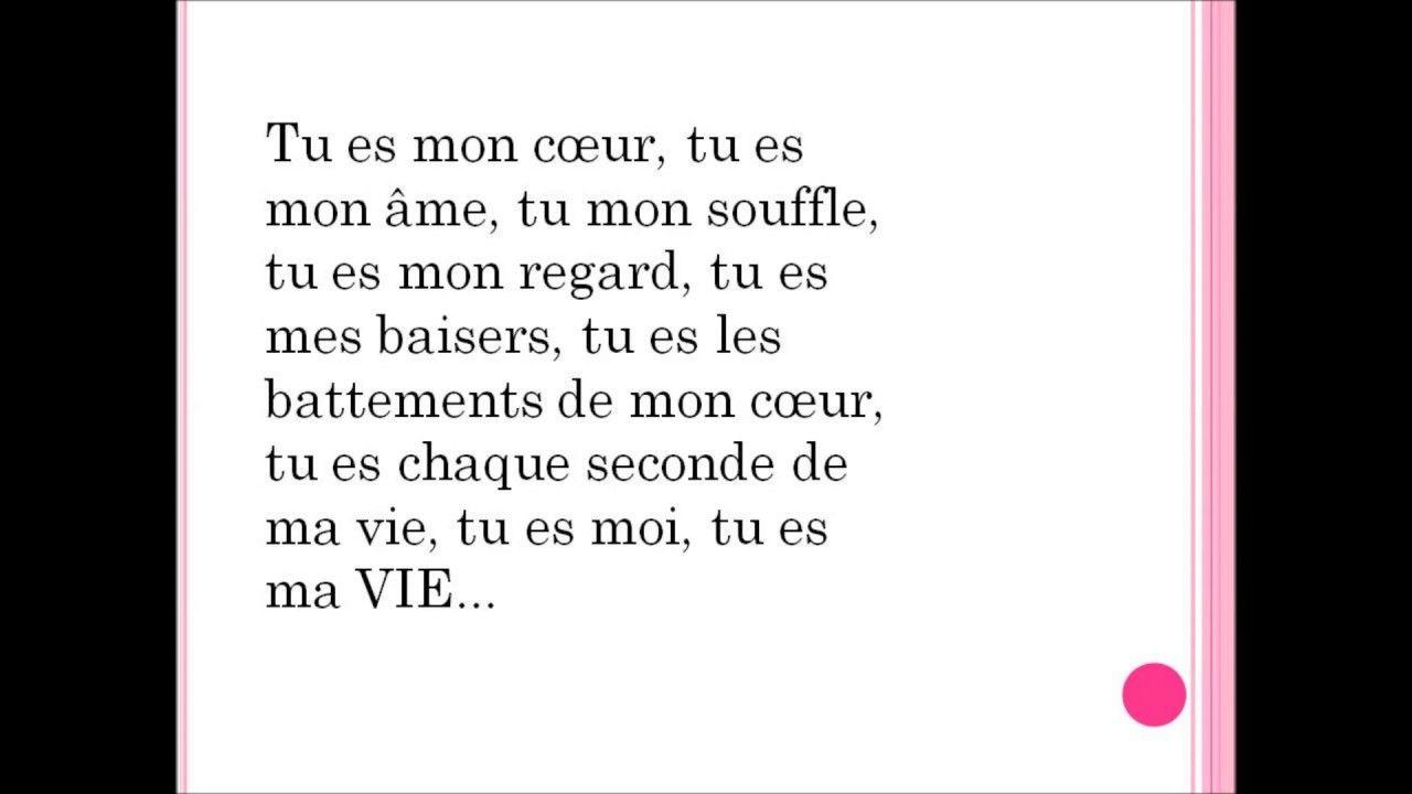 Texte Mignon Pour Dire Je Taime Mon Coeur Amour Texte