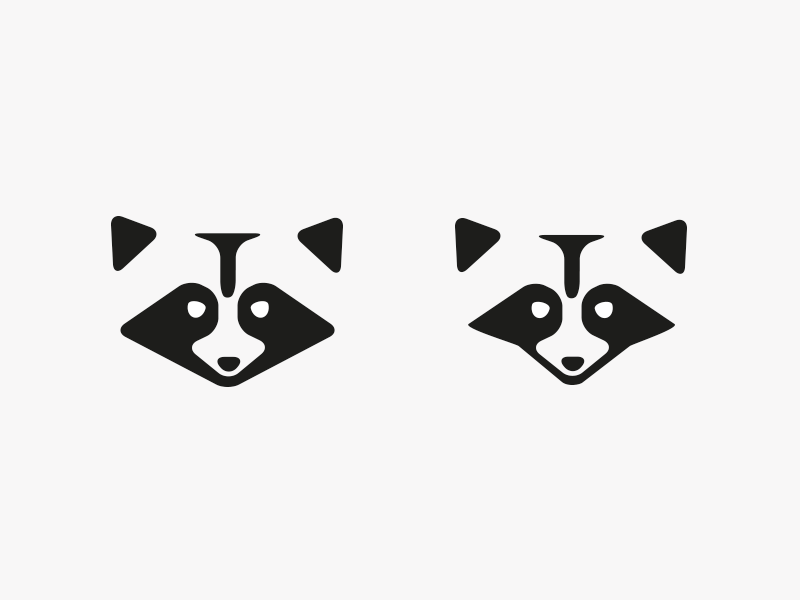 Raccoon Logo: 2 Versions
