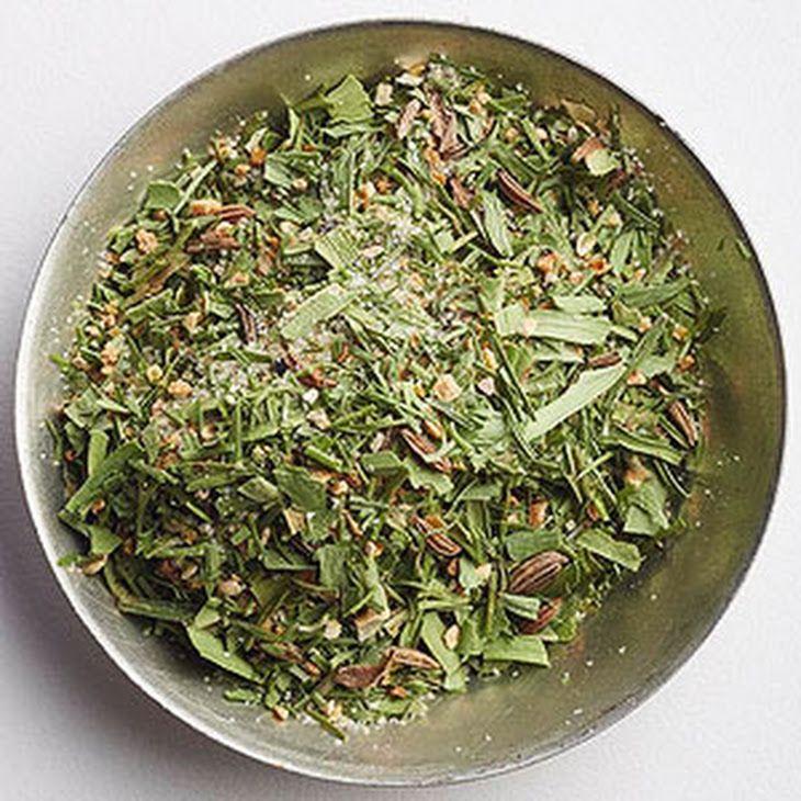 Scandinavian Lemon Spice Recipe with dried dillweed, dried tarragon leaves, dried lemon peel, onion powder, caraway seeds, ground black pepper