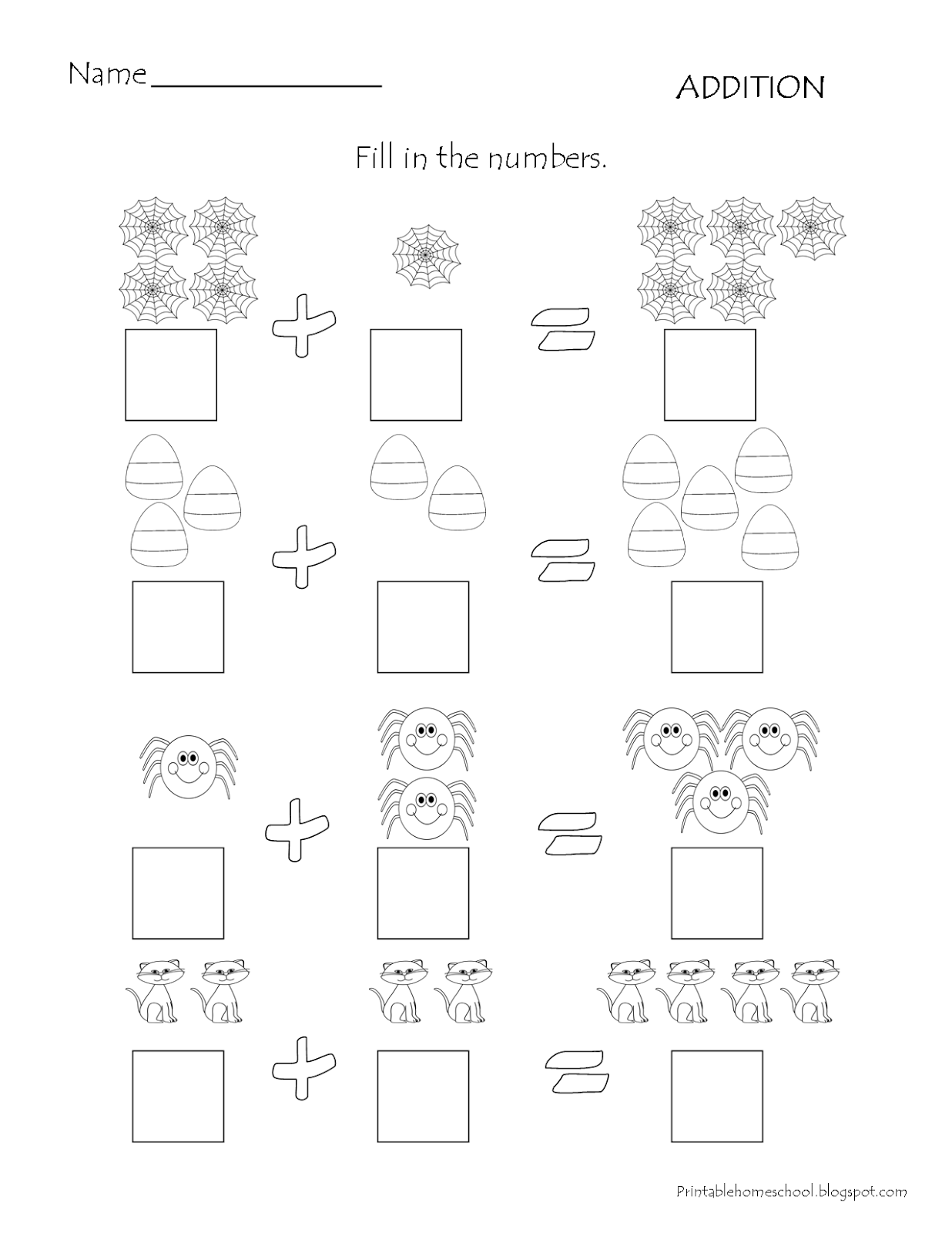 Addition Worksheet Com Imagens