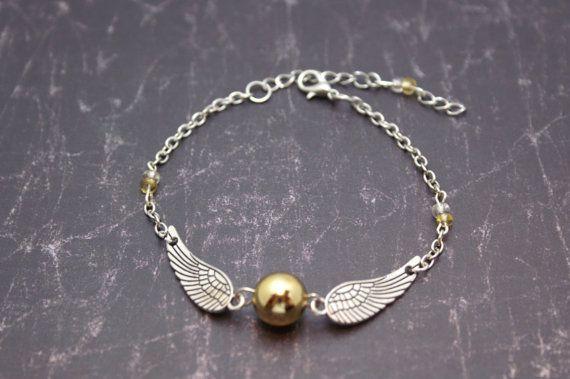 Harry Potter Golden Snitch Bracelet by MomandPopNerdShoppe on Etsy