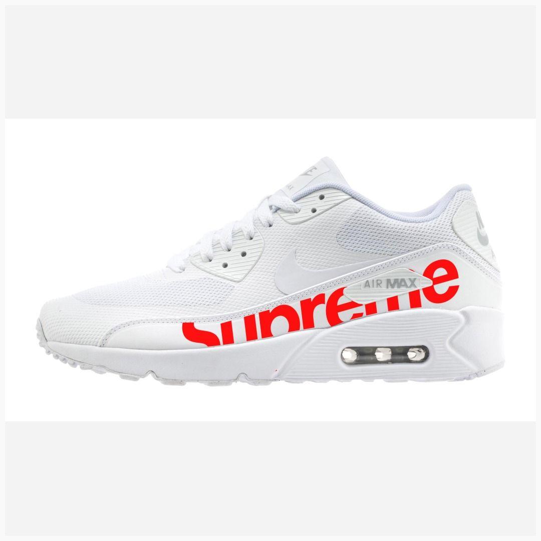 Grabar Brillante Señuelo  Bandana Fever Red Supreme Print Custom White Nike Air Max Shoes #fashion  #supremeclothing #supremeusa #supre…   Nike shoes air max, White nikes, Nike  air max white
