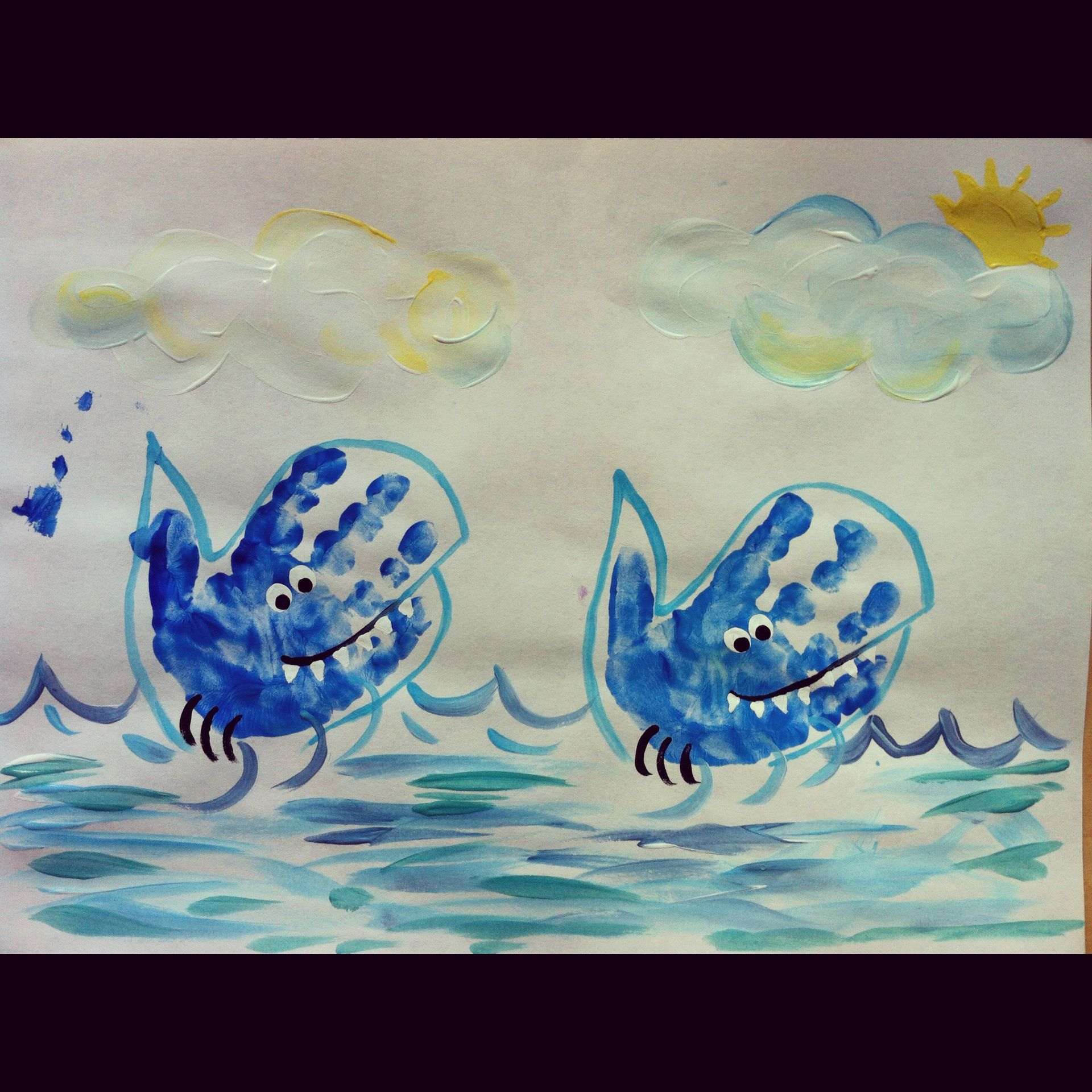 Uncategorized Shark Images To Print shark hand print art i could make this into a whale school whale
