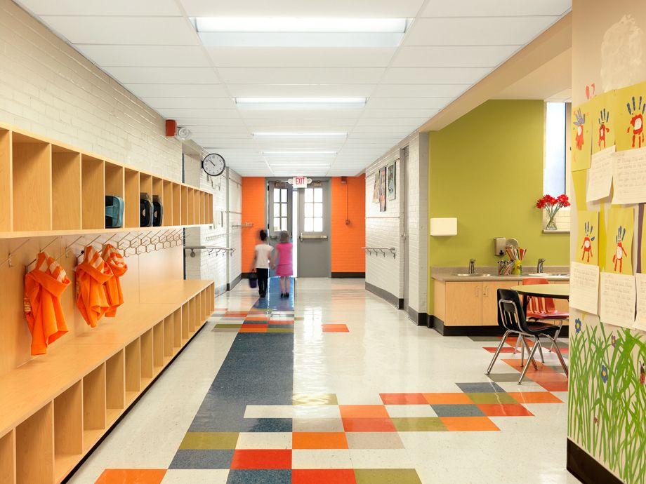 Bond Wolfe, Elementary School, Kids, Two, Hallway