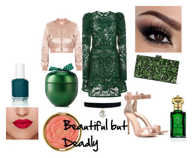 """""""That Girl is POISON!!"""" by lovlylivi ❤ liked on Polyvore featuring Elie Saab, Gianvito Rossi, Edie Parker, Essie, Milani and Clive Christian"""