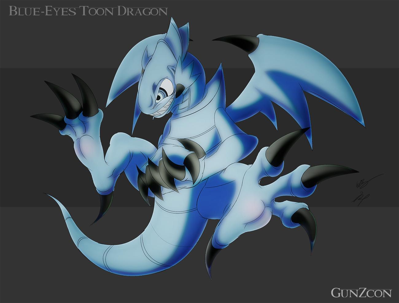 Blue Eyes Toon Dragon Dark Ver By Gunzcon Dragon Blue Eyes Art