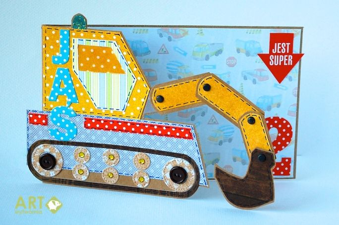 Interactive Card With Digger Interactive Cards Kids Birthday Cards Pinterest Cards