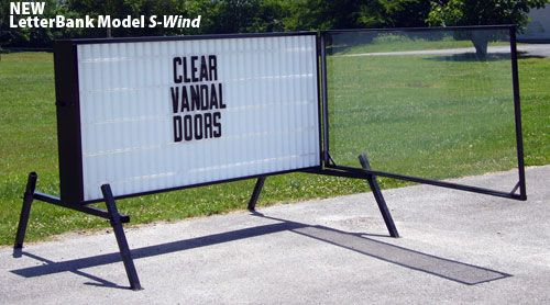 S Wind 4x8 Readerboard With Wind Covers Roadside Signs