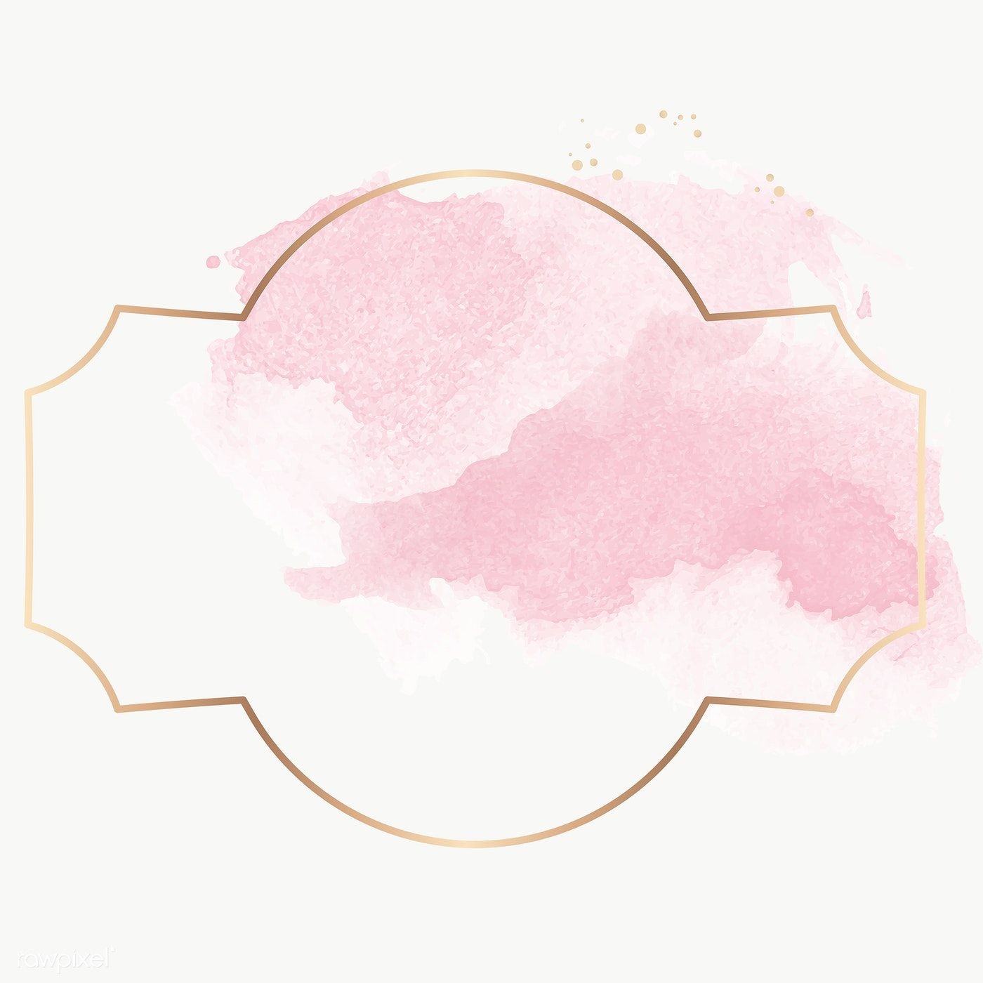 Gold Badge With Pink Watercolor Paint Transparent Png Premium Image By Rawpixel Com Nunny Pink Watercolor Watercolor Paint Set Free Printable Art