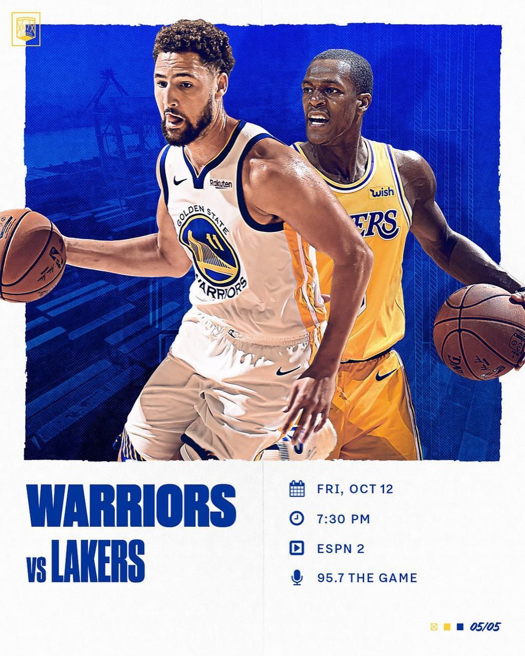 It S Game Day Dubs With Another One Against The Lakers Tonight To Wrap Up This Preseason Splash Brothers Warrior Lakers