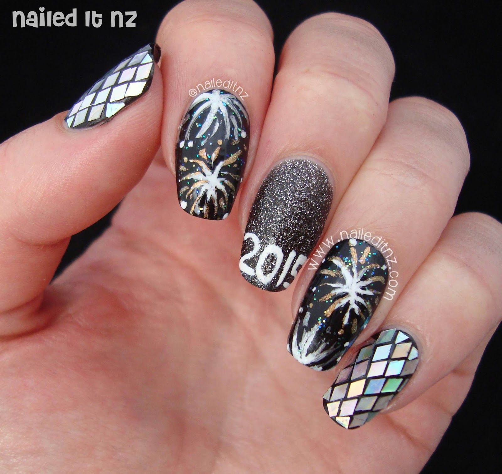 Nailed It NZ: New Year\'s Nail Art 2015 | Blogging Resolutions http ...