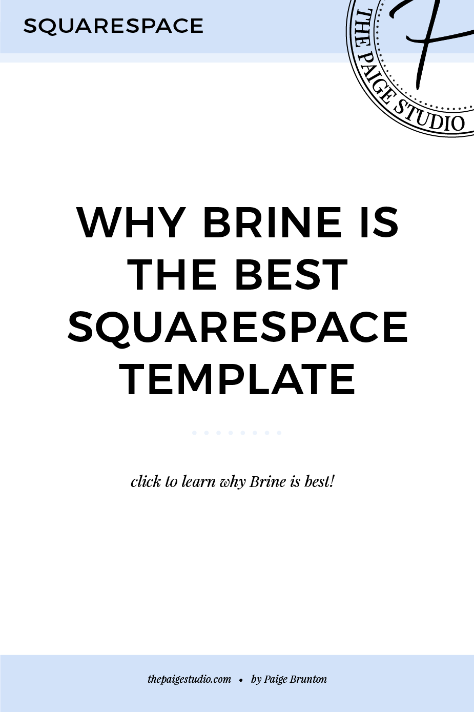 What Is The Best Squarespace Template Brine Here S Why The