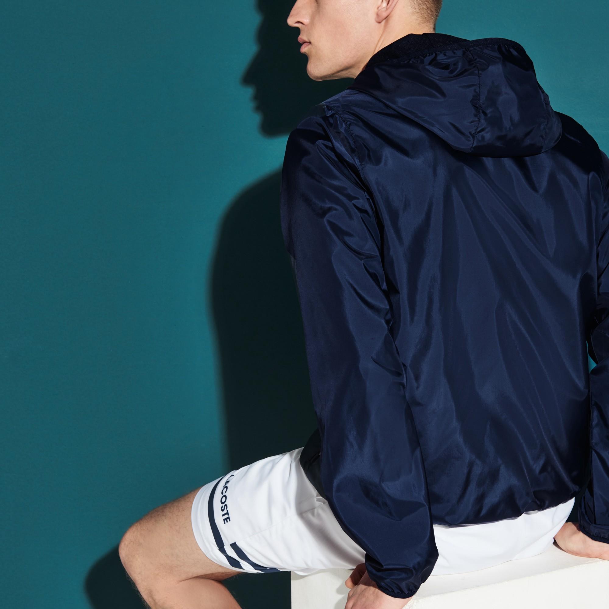 552c2d4f6 Lacoste Men s Sport Water-Resistant Tennis Jacket - Black White Xxl Green
