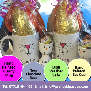 Magical easter gift bags with hand painted personalised bunny mug magical easter gift bags with hand painted personalised bunny mug and chick egg cup negle Gallery