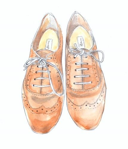 Illustration. Shoes, fashion illustration, look, sketch, watercolor