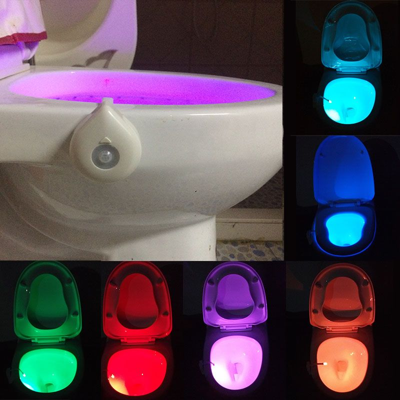 Waterdrop Shape Led Toilet Light 8 Colors Wc Lamp Lights With