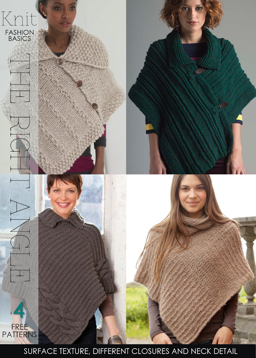 Rectangle Ponchos - relaxing knitting and crochet projects - free ...