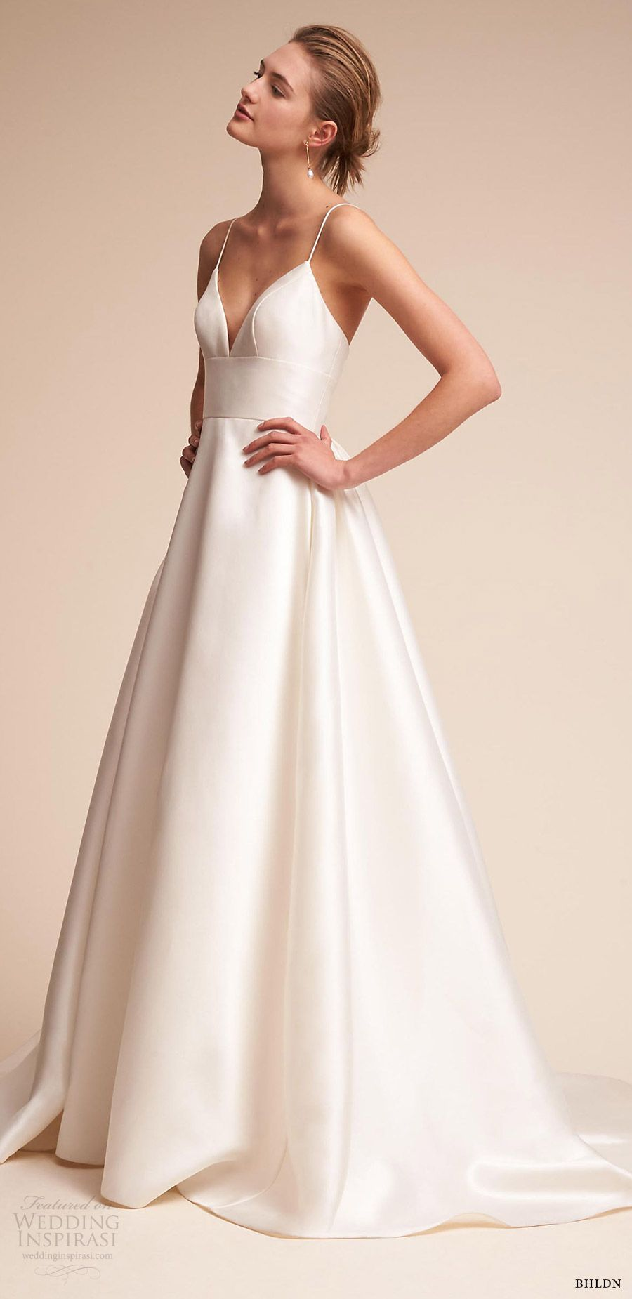 Wedding dress without train   Wedding Dress Trends to Love Part  u Necklines and Other