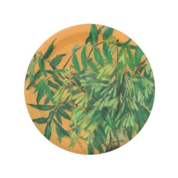 Ash-tree green yellow summer greenery floral art paper plate ($1.70) ?  sc 1 st  Pinterest & Ash-tree green yellow summer greenery floral art paper plate ($1.70 ...