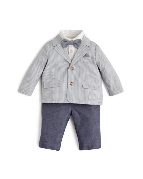 4eb6936bc Miniclasix Infant Boys' Seersucker Blazer, Button Down & Pants Set - Sizes  3-24 Months