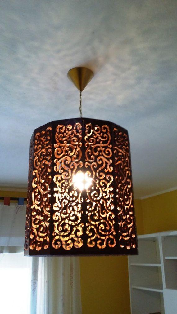 Wooden chandelier twelve-sided with Arab symmetrical by DeadxAlive