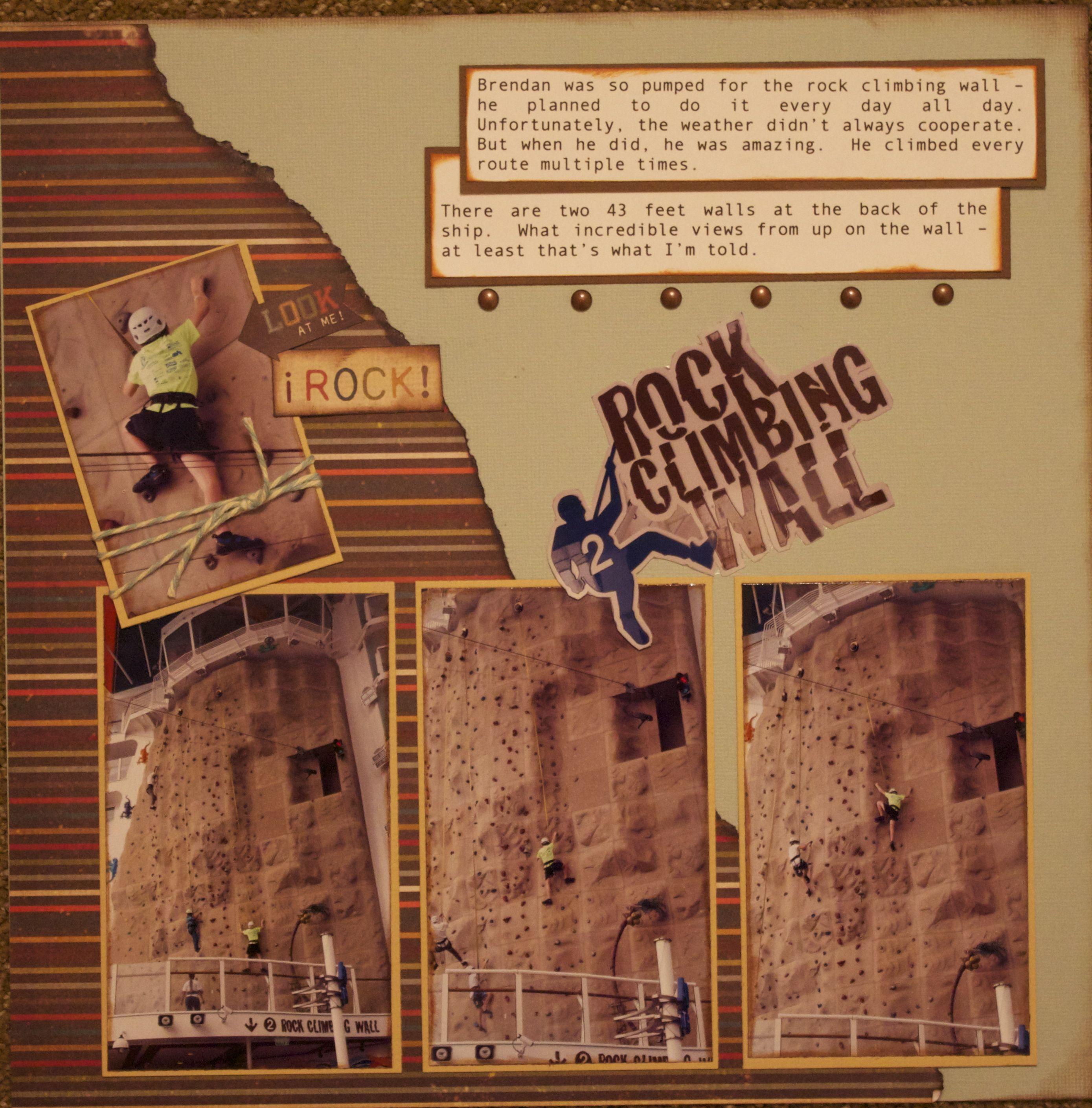 Ziplining scrapbook ideas - Rock Climbing Wall Scrapbook Com