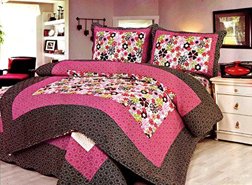 Newrara 3pcs Patchwork Quilts Bedspreads 100% Cotton Flower Bedspreads Newrara http://www.amazon.com/dp/B00P5YKYHA/ref=cm_sw_r_pi_dp_irCavb1KZXEWR