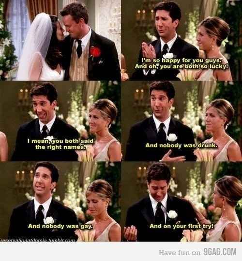 Monica Chandler Showed Us How To Get Married Correctly Friends Tv Show Quotes Friends Funny Friends Tv