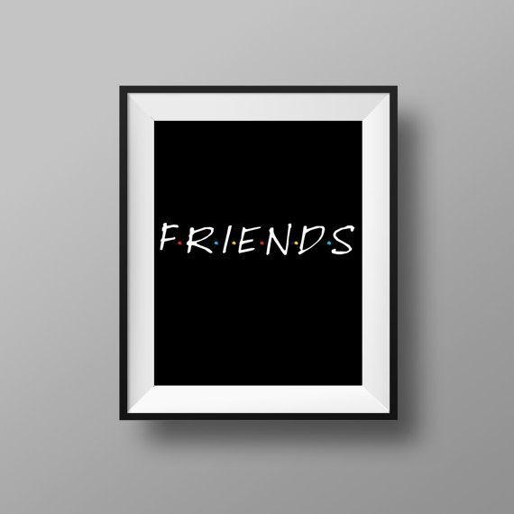 Friends TV Show Print | Friends Show | Friends TV Poster | Instant