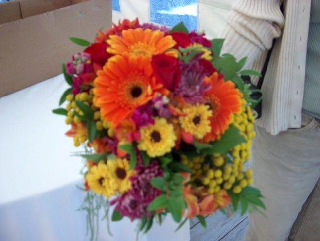 gerbera daisy bouquets   Gerbera Daisies Fall Wedding Bouquet ...