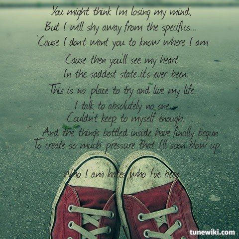 Lyricart For Who I Am Hates Who I Ve Been By Relient K Lyrics
