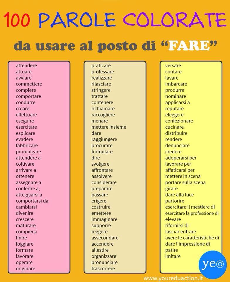Pin Di Ruby Su Aprender Imparare L Italiano Istruzione
