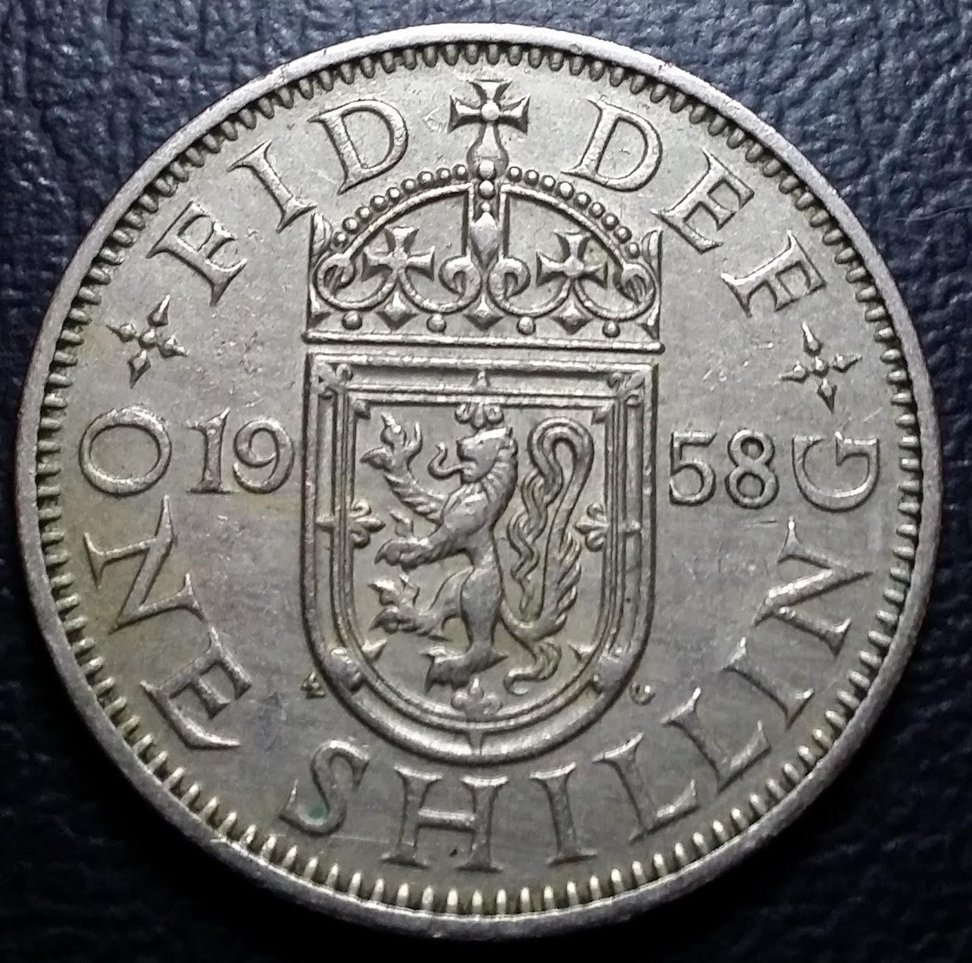 1958 one shilling coin value