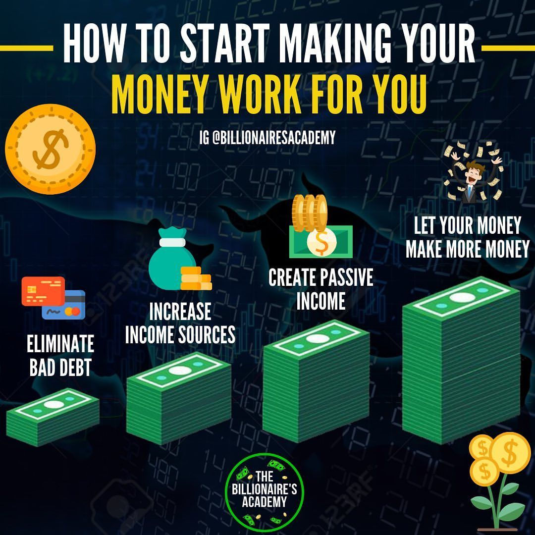 HOW TO MAKE YOUR MONEY WORK FOR YOU!💥 . The main idea is