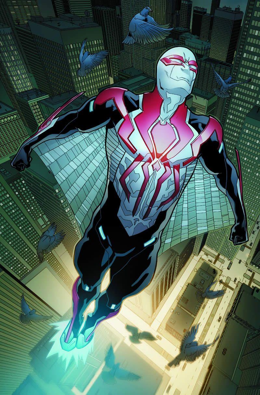 #Spiderman #2099 #Fan #Art. (SPIDER-MAN 2099 #2 Preview) By: WILL SLINEY. (THE * 5 * STÅR * ÅWARD * OF: * AW YEAH, IT'S MAJOR ÅWESOMENESS!!!™)[THANK Ü 4 PINNING!!!<·><]<©>ÅÅÅ+(OB4E)