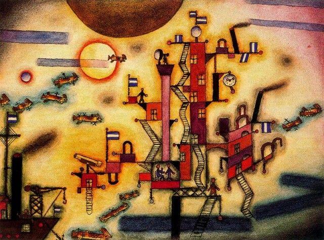 Otro puerto - Xul Solar (Oscar Agustin Alejandro Schulz Solari) - argentino (1887-1963)