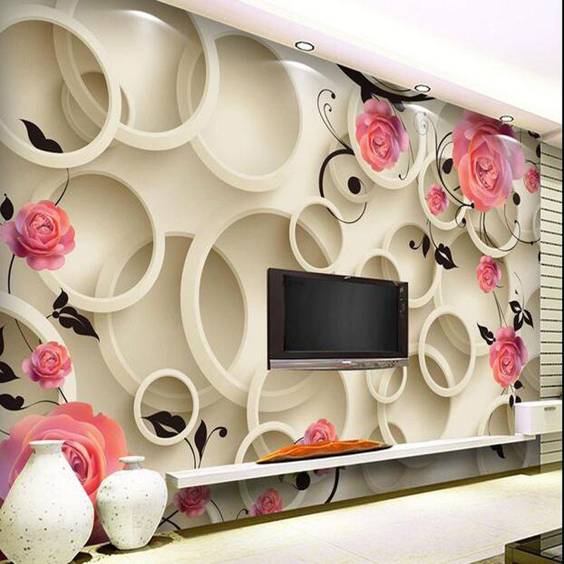 Great Wall Modern 3d Wall Murals Wallpaper Photo Wallpaper Flowers