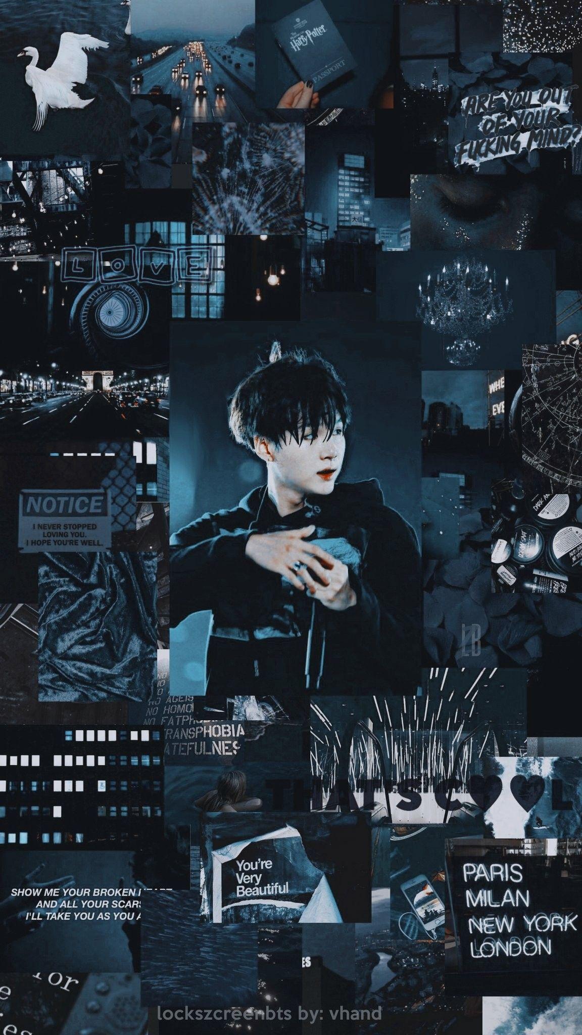 Yoongi Aesthetic Wallpaper Credits To Twitter Lockszcreenbts C Yoongi Suga Gambar Fandom Foto Kekasih Kolase Dinding