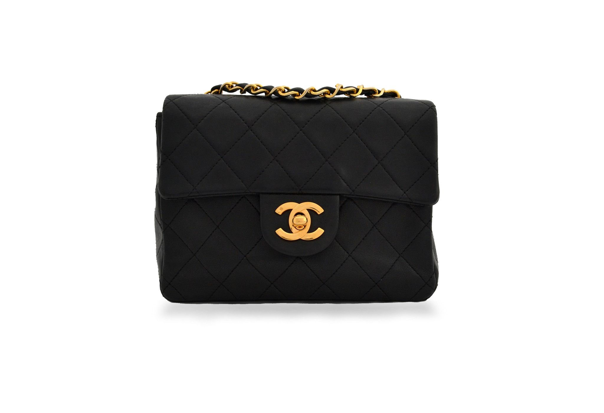 Designer Bags Free Uk Authenticity Chanel Vintage Bag Mini 2 55 Shoulder Flap In Lambskin From District Authentic