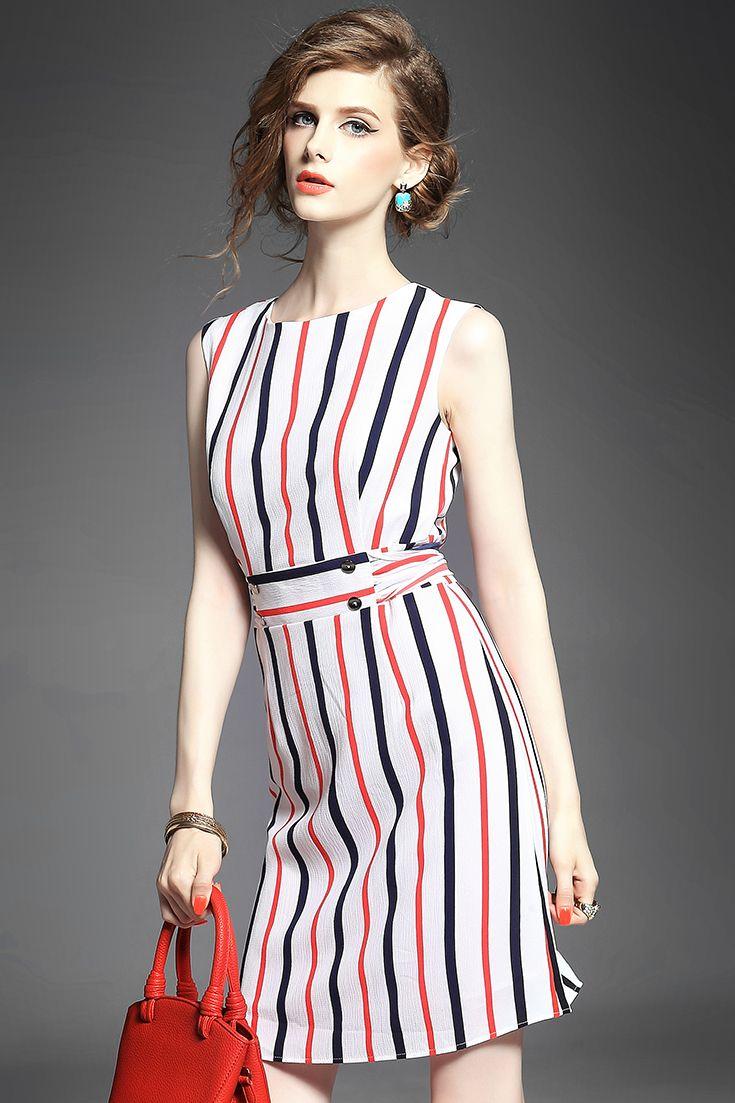 Vertical Chiffon Dress